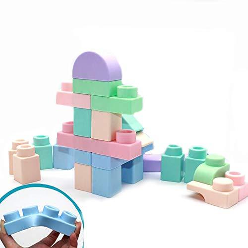 Baby Deeltjes Zachte Blokken, Tanden Bijten Bestand Tegen Hoge Temperatuur En Het Binnenmilieu Educatief Speelgoed Bouwstenen Spelling Spel