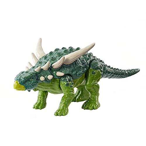 Jurassic World- Dinosauro Forza Bruta Sauropelta con Articolazioni Mobili e Funzionalità Colpo Singolo,...