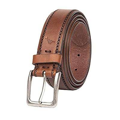 Tommy Bahama Men's Detailed Edge Dress Belt, Brown, Small (30-32)