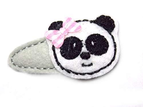 Panda Haarspange für Kleinkinder - freie Farbwahl