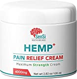 Sensi Natural Hemp Oil Cream 4000mg   Relieves Muscle Joint Pain Aches Improves