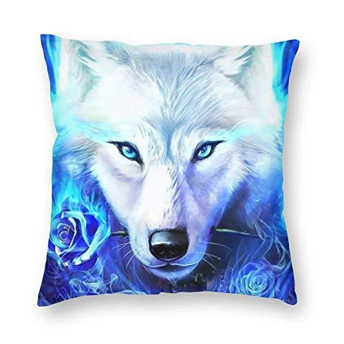 Funny Z Pinterest Blue Ice Ice Wolf Wallpaper Kissenbezüge Dekorative 1-Packs Ultra-Soft Kissenbezug 18 x 18 Zoll für Couch, Stuhl, Sofa, Schlafzimmer, Auto
