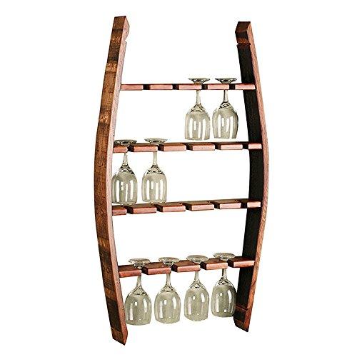 XiuHUa Weinregal - Europäische Moderne Massivholz hängenden einfachen Haushalt Weinglas Halter, Wohnzimmer Weinglas Halter (50CMX10CMX90CM) Wein Vitrine