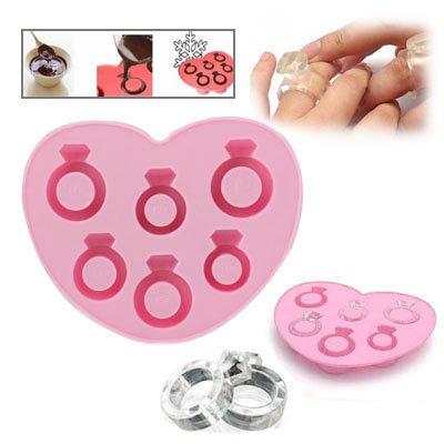 Eiswürfelform / Eiswürfelschale aus Silikon / Lustige Eiswürfel - Trauring Ehering Verlobungsring Ring Style