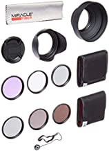 Zeikos 58MM Neutral Density Filter Set (ND2 ND4 ND8), Multi-Coated UV-CPL-FLD Filter Set, Tulip Flower, and Rubber Collapsible Lens Hood, Lens Cap and Lens Cap Keeper with Pouch and Microfiber Cloth
