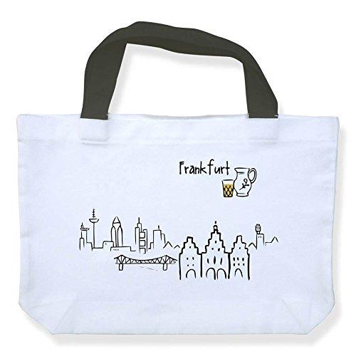 die stadtmeister Einkaufstasche Skyline Frankfurt - als Geschenk für Frankfurter & Fans der Mainmetropole oder als Frankfurt Souvenir