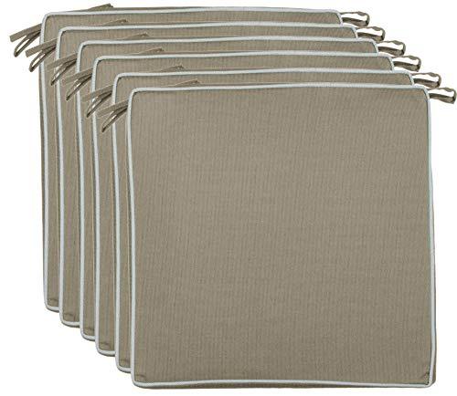 Brandsseller Outdoor zitkussen, kussen, decoratief kussen, vuil- en waterafstotend, 220 gr. Vulling - afmetingen: 40 x 40 x 4 cm 4er-Vorteilspack taupe/beige - gestructureerd