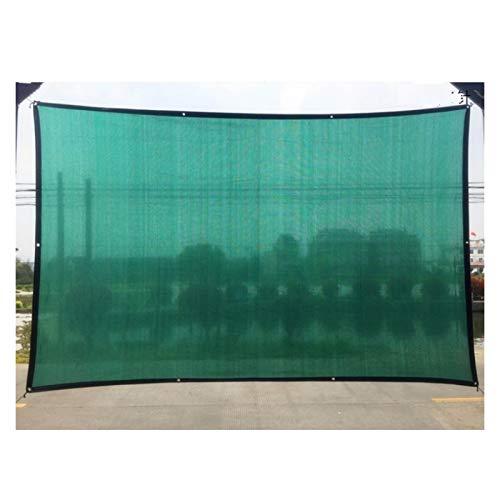 GHHZZQ Toldo Vela de Sombra Borde con Cinta con Ojales Sun Shade Sail por Cubierta Vegetal Invernadero Granero Perrera Pérgola para Piscina, Verde Oscuro (Color : Green, Size : 5x6m)