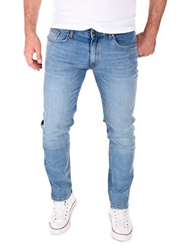 Yazubi Slim Herrenjeans Slim Fit Jeans Hose Männer Jeanshosen Akon, Blau (Flint Stone 183916), W33/L34