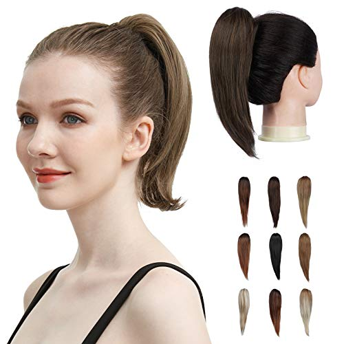 FESHFEN Claw Ponytail Extension, 9 inch Short Claw Clip in Ponytail Hair Extensions Pony Tail Extension Synthetic Hairpiece for Women Girls, 70g