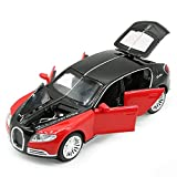 Alloy car car model children's car toy car simulation sound and light car model toy car children's toys over 3 years old-Bugatti galibier-red