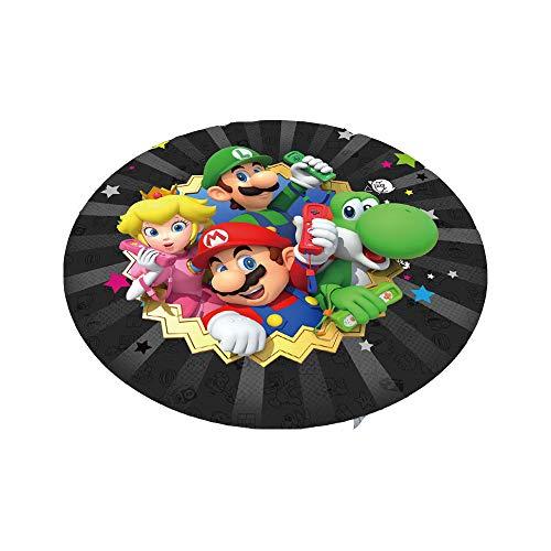 GOOCO Alfombra de Juegos para niños,Super Mario - Alfombrillas de Goma de poliéster para Dormitorio Infantil,Super Smash Bros.