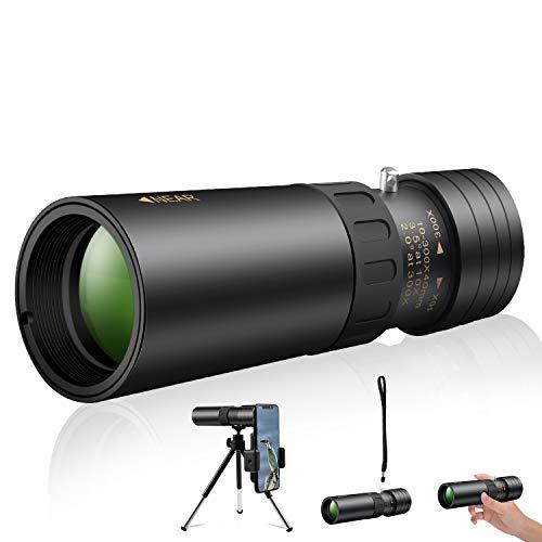 2021最新版単眼鏡 望遠鏡 10-300x40 高倍率 4K高解像度 高透過率 超望遠レンズ 防水霧 耐衝撃 観戦 観察 運動会 コンサートスポーツ観戦 天体観測 山登り お釣り アウトドア (金属版本)