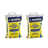 Morton Salt System Saver II Reduce Iron Buildup Phosphate Free Water Softener Pellets for Home Appliances and Water Heaters, 25 Pound Bag (2 Pack)