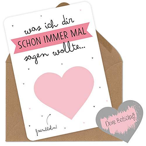 Rubbelkarten Grußkarten mit Umschlag Blanko personalisierbar für den Freund die Freundin den Mann der Frau der Mama dem Papa zum Jahrestag Geburtstag Hochzeitstag