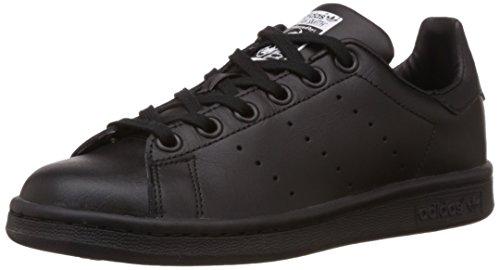 adidas Stan Smith J, Scarpe da Ginnastica, Black/Black/Ftwr White, 35.5 EU