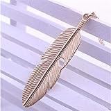 KHOBGLU Collar para Mujer Colgante Cadena Larga Collar De Moda Joyería Vintage Collar Largo Oro Rosa
