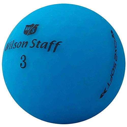 lbc-sports 24 Wilson Staff Dx2 / Duo Soft Optix Golfbälle - AAAAA - PremiumSelection - Blau - Mattes Finish - Lakeballs - gebrauchte Golfbälle - im Netzbeutel