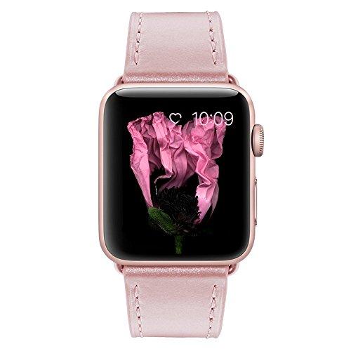 10个最好的苹果表带38毫米皮革玫瑰金的2020年