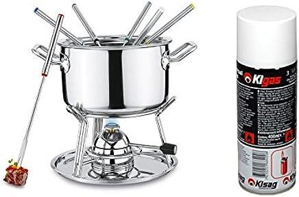 Spring Brigade Conjunto de fondue con quemador de gas + ...