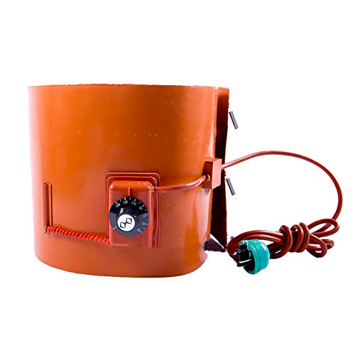 MZBZYU Heavy Duty Calentador for Aceite Tambores Estándar De Tipo De Tambor Giratorio De Termostato Ajustable para Bidones De Plástico Metal Tambores (5 Gallons/ 20L)