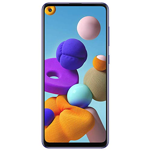 Samsung Galaxy A21S SM-A217M/DS 4G LTE 64GB + 4GB Ram LTE USA w/Four Cameras (48+8+2+2mp) Android International Version (GSM Only, Not CDMA) (Blue)
