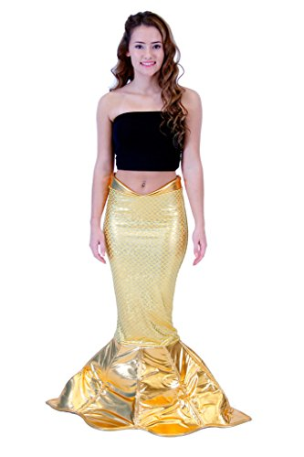 Magical Mermaid Gold Sparkle Tail Deluxe Costume (S/M)