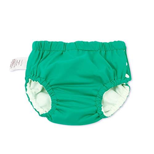GWELL Baby Schwimmwindel Waschbar Badeshorts Badehose für 0-4 Jahre Kleinkinder Schwimmen Lernen Grün 70