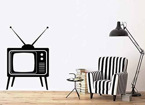 cooldeerydm Muursticker, afneembaar, grote oude tv-apparaten, met antenne, vinyl, zelfklevend, voor doe-het-zelvers, decoratie