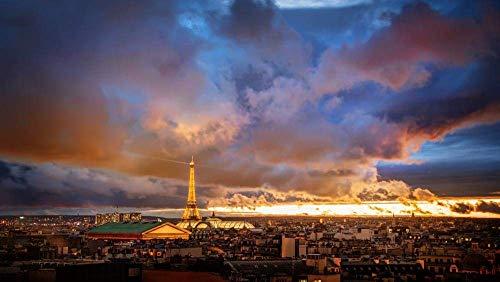 XFVS 1000pcs Puzzle Rompecabezas para Adultos Rompecabezas Torre Eiffel, París, Francia, Paternidad eterna, Francia Adultos Juego de de Ejercicio Cerebral