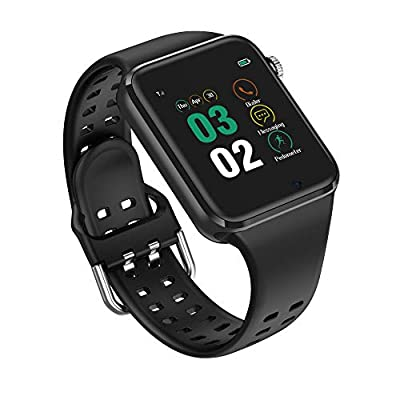 321OU Smart Watch for Android iOS Phones Compatible iPhone Samsung, SIM/SD Card Slot Support Smartwatch Fitness Tracker Fitness Watch Camera, Pedometer for Women Men (Black) by MCSD InfoTech