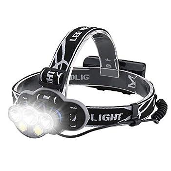 wesho Victoper Lampe Frontale LED Rechargeable 5 lumières 8 Modes, 8000 lumens IPX5 Étanche