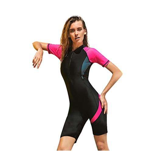 AIni Damen Neoprenanzug,Sexy Sport New Neopren Zip Shorty Neoprenanzug Tauchanzug Rash Guard Wetsuit Schwimmen Surfanzug Surfen Tauchen (XXL,Rot)