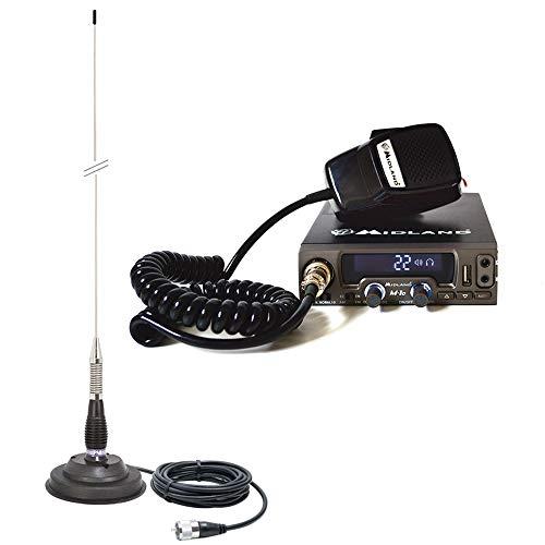 Midland Paquete CB M10 ASQ Radio Digital con Antena PNI ML100 con Base magnética