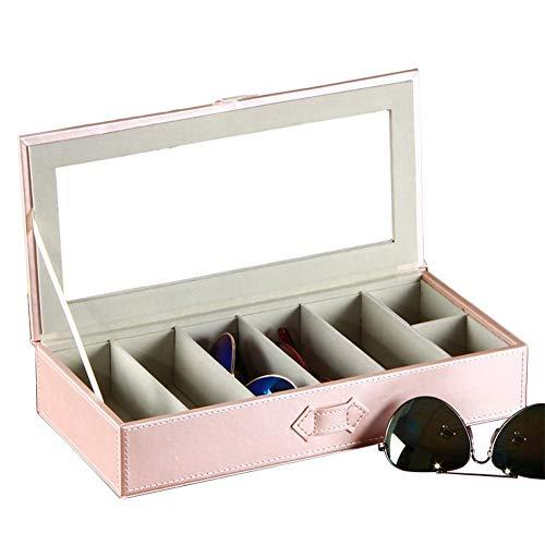 Hoveey Caja para Gafas con 7 Estuches para Guardar y Almacenar Anteojos, Organizador y Soporte de Gafas de Sol