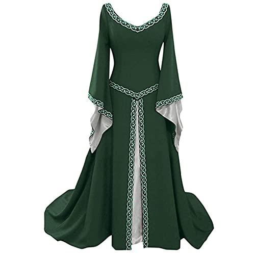 iikey Abiti Donna Eleganti Da Cerimonia Lunghi Vestiti Donna Autunnali Lunghi Taglie Forti Donna Medievale Boho Vestito Retro Lungo Abito Cosplay Costume Partito Vestito