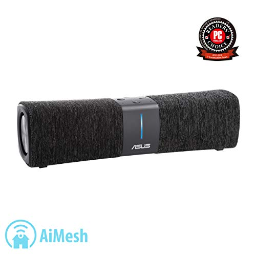 ASUS Lyra Voice Wireless AC2200 Tri-Band Mesh Wi-Fi Router and Bluetooth Speaker, Black