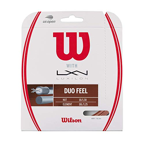 Wilson Duo Feel Element 125 & NXT 16 Tennis String