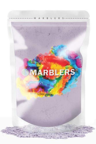 MARBLERS Mica Powder Colorant 3oz (85g) [Lavender]   Pearlescent Pigment   Tint   Pure Mica Powder for Resin   Dye   Non-Toxic   Great for Epoxy, Soap, Nail Polish, Cosmetics and Bath Bombs