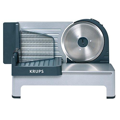 """Krups Aoste Profesional Cortafiambres, cuchilla universal """"Solingen"""" de 19 cm de diámetro y extraíble, motor silencioso, 140 W, Metall"""