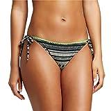 Xhilaration Women's Cheeky String Bikini Swim Bottom Black Tribal XS