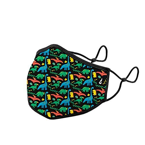 Abbacino mascarilla homologada y lavable para niños estampado dinosaurios