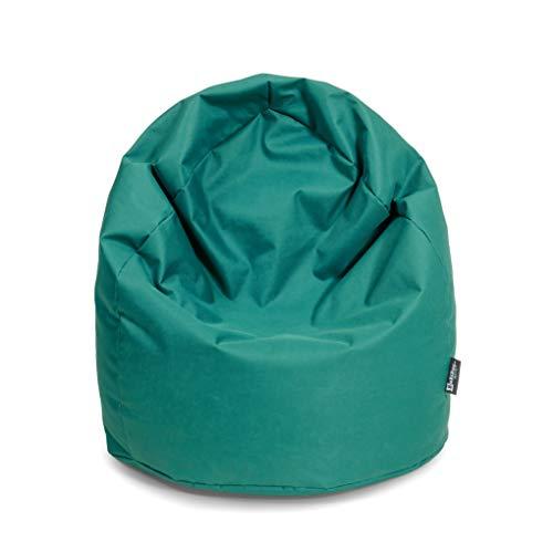 BuBiBag Sitzsack Tropfenform mit Füllung Made in Germany beanbag Sitzkissen für In & Outdoor 260 L mit Styropor Füllung in 32 versch. Farben (Petrol)