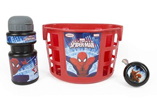 Kit Spider-Man Enfant pour trottinette, vélo, draisienne, ... - Panier + Gourde + Sonnette - Dès 3 ans - D'arpèje - OSPI074
