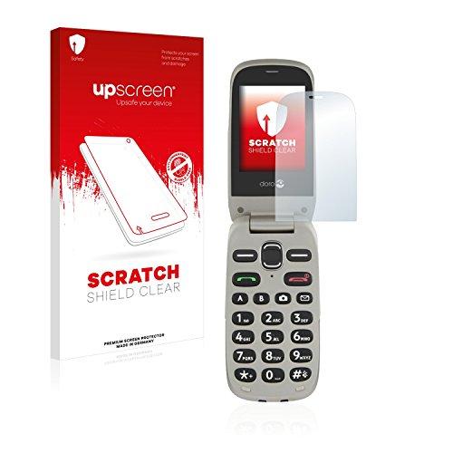 upscreen Schutzfolie kompatibel mit Doro PhoneEasy 632 – Kristallklar, Kratzschutz, Anti-Fingerprint