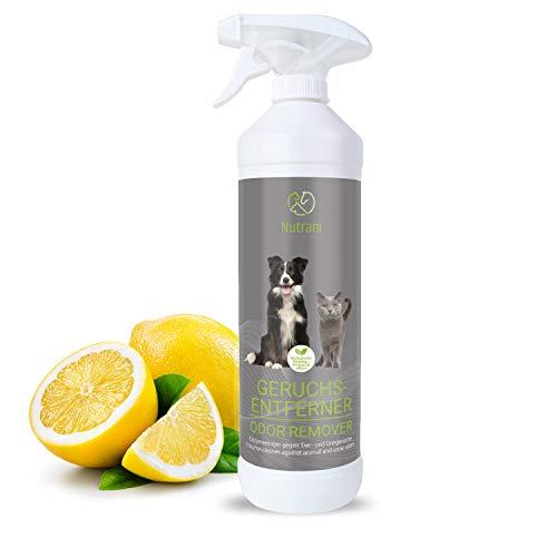 Nutrani - Eliminador de olores | 750 ml - Limpiador enzimático natural en spray listo para usar con efecto biológico, elimina olores, orina, excrementos y manchas de perros y gatos