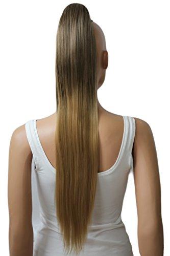 PRETTYSHOP 70cm Haarteil Zopf Pferdeschwanz Haarverlängerung Glatt Ombré Braun Blond H118