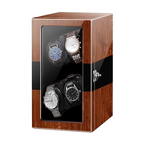 Caja de enrollamiento de Spinner Reloj Windoer - Reloj mecánico automático Shaker Vertical Smart Windering Box Silent Motor Watch Dispositivo giratorio Home Multi-Slot Watch Reloj de almacenamiento Es