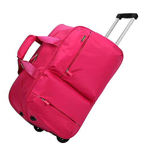 Super Lightweight Business Travel Wheeled Rolling Laptop Tablet Computer Trolley Suitcase Hand Luggage Cabin Approved Bag Case Briefcase ZHANGAIZHEN (Color : Rose red, Size : Large)