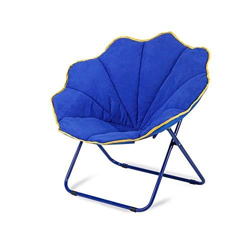 MDBLYJChaise longue Balcon pliant chaise longue, canapé paresseux, chaise pliante en tissu, chaise papillon (Couleur : A)